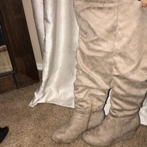 Chinese Laundry Suede Knee High Boots